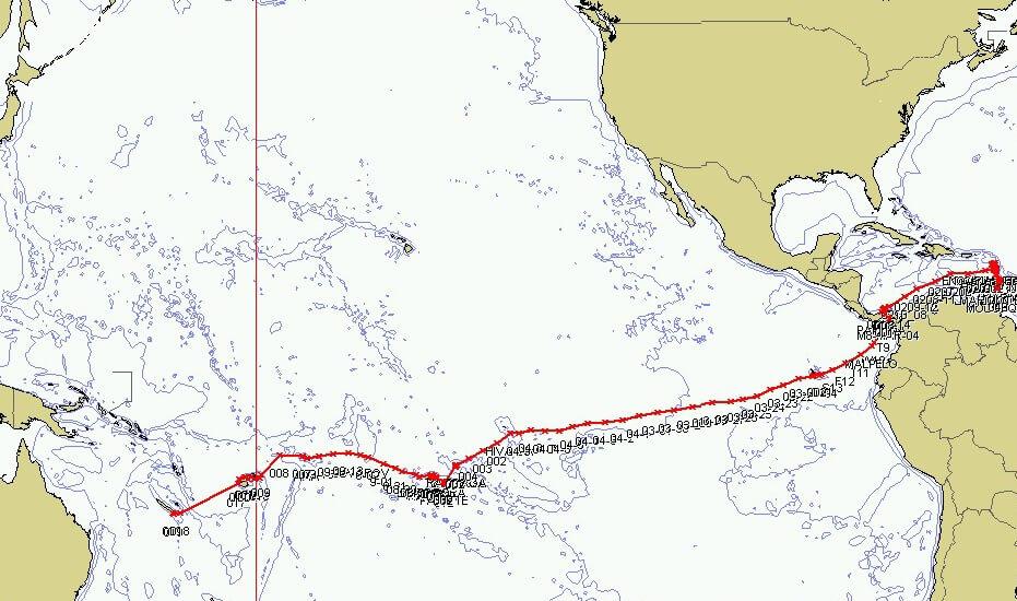 Sailing Trip Map