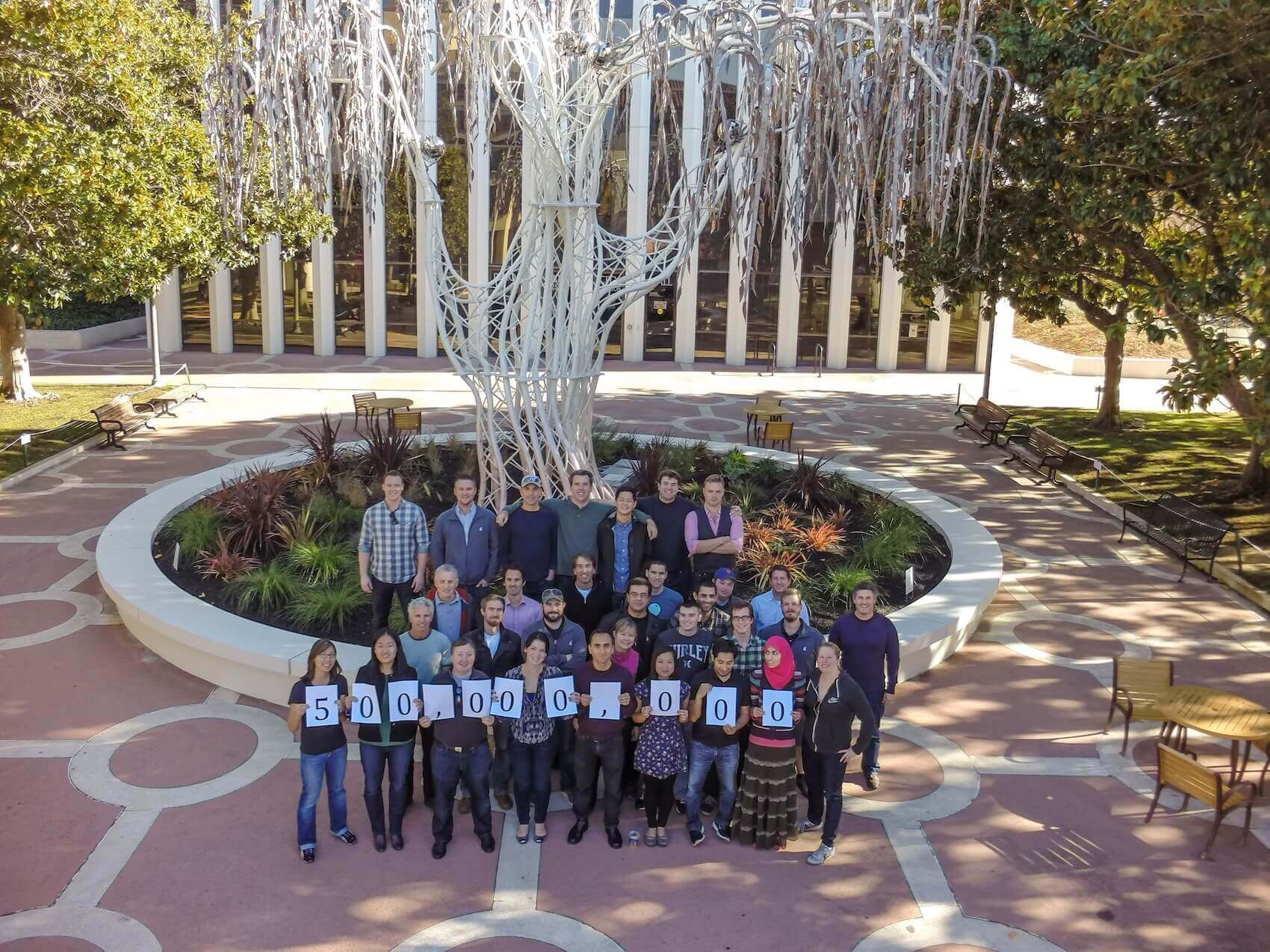 Aerial Wealthfront Team Photo, November 22, 2013, Palo Alto, California