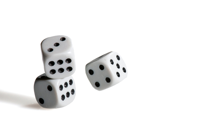 Black and white dices