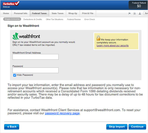 Wealthfront's TurboTax Integration Makes It Easier to File 2015 Taxes