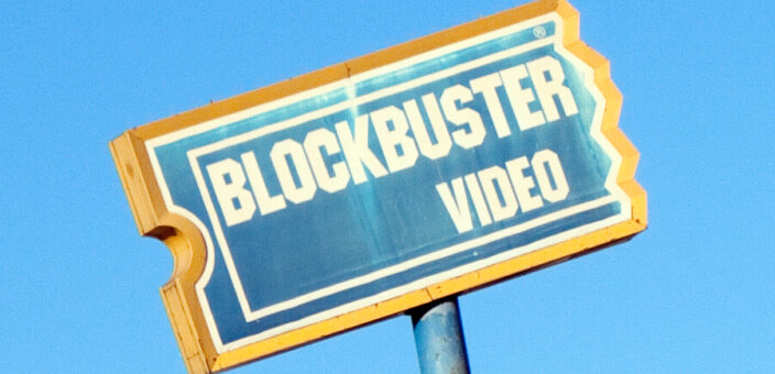 """""""Distressed Blockbuster Video Sign"""" by trebomb on Flickr."""